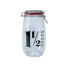 Frasco hermético 1 1/2 ltrs. vidrio.