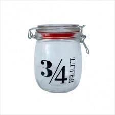 Frasco hermético 750 ml. vidrio.