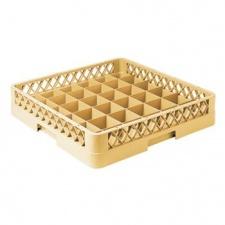 Canasto Rack para cristalería 36 divisiones beige.