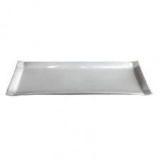 Fuente rectangular 40,5 x 14 cm. cerámica blanca.