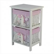Mueble blanco 2 cajones Conejo 41 X 32 X 63 altura cm