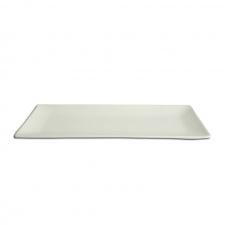 Fuente rectangular 30 x 11 cm. porcelana blanca