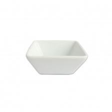Ramequin cuadrado 6 x 3,5 cm. porcelana blanca