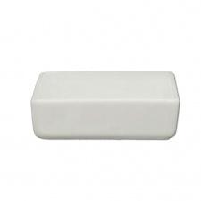 Ramequin cuadrado chato 6,8 cm porcelana blanca