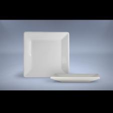 Plato cuadrado de mesa 25,5 cm porcelana blanca