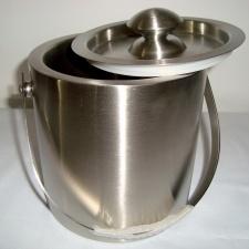 Hielera, balde de hielo acero inoxidable con tapa