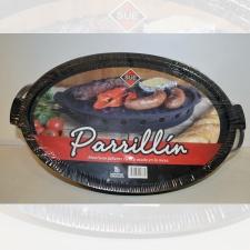 Parrillin brasero esmaltado oval 39.5 x 25.5 x 5 cm.