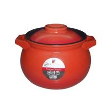 Olla Cacerola  Ceramica Fuego Directo 6 lts Naranja