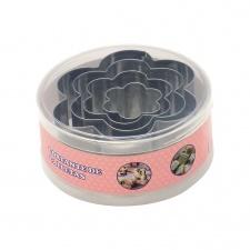 Cortante Galletas Set x 4 piezas Diseño Flor.