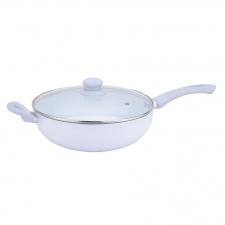 Sarten wok ceramico con tapa Verona Di�metro 28 cm.