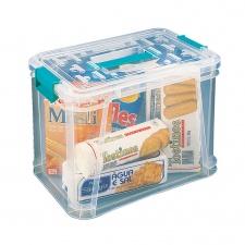 Caja Plástica Organizadora 37.5 x 23.5 x 27.5 cm. Transparente.