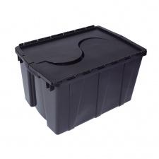 Caja Plástica Organizadora 57.5 x 39.5 x 32 cm. Negra.