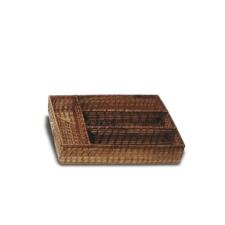 Cubiertera Bamboo rectangular  37 x 27 x 7 cm.