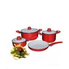 Batería de Cocina 7 piezas Rosso Cuori.