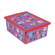 Caja Organizadora diseño Buhos 17 Lts.