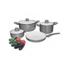 Batería de Cocina 7 piezas Grigio Cuori.