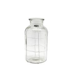 Botella para Decoración Vidrio Incoloro 20 cm alto.