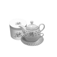 Set de Té Tea for One. 450/300 ml Flower Deco.