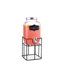 Dispensador de vidrio con base metal 4 ltrs.
