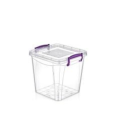 Caja plástica con cierre y asas 3.7 lts.