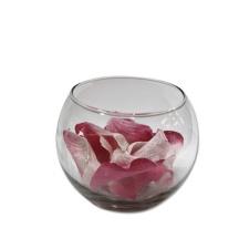 Florero pecera de vidrio 9 cm.