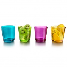 Vasos set x 8 unid 384 ml colores Crisa.