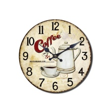 Reloj de pared diseño Coffee Time.