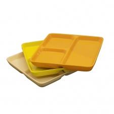 Copetinero plato con divisiones cerámica.