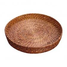 Bandeja redonda bamboo rattan Ø 35 cm.