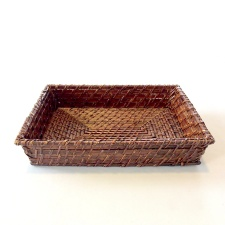 Bandeja rectangular bamboo rattan 30 x 20 x 6 cm.