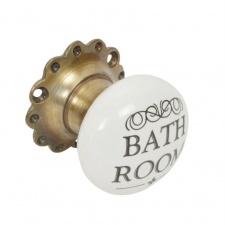 Tirador para puerta Bathroom ceramica metal.
