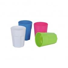 Vaso plástico 270 ml diferentes colores.