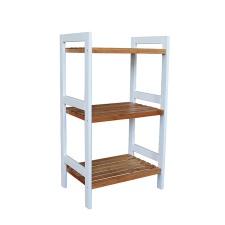 Estantería madera 3 estantes bamboo con blanco. 45 x 32 x 80 cm.