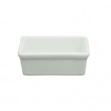 Ramequin rectangular porcelana blanca 7 x 5 x 2.5 cm.