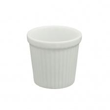 Ramequin cilindrico porcelana blanca 6.5  x 6.5 cm.