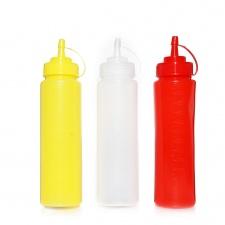 Pomo para aderezos 650 ml plástico rojo blanco amarillo Goldsky