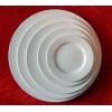 Plato de postre 20.5 ceramica blanca con averia