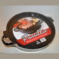 Parrillin brasero esmaltado circular 28.5 x7.5 cm.