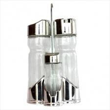 Aceitera Vinagrera Salero Pimentero de vidrio 175 ml. / 37,5 ml.