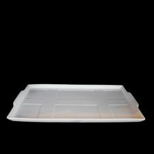 Fuente rectangular 34 x 21 x 2 cm.