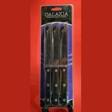 Cuchillos Gold x 6 mango negro