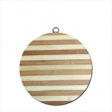 Tabla Bamboo redonda para picar 30 cm.