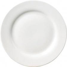 Plato llano 26.6 cm. porcelana blanca Selecta