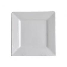 Plato cuadrado de postre 18.5x18.5cm porcelana blanca