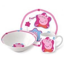 Taza + Plato + Bowls de Ceramica Peppa Pig