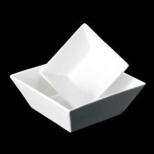 Bowls cuadrado porcelana blanca.