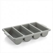 Cubiertera 4 divisiones 54 cm termoplástico gris.