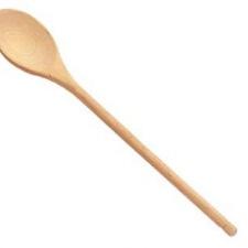 "Cuchara de madera 10"" 254 mm."