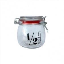 Frasco hermético 500 ml. vidrio.