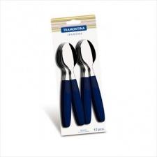 Cuchara de Postre Ipanema azul x 12 unidades Tramontina